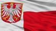 Frankfurt Am Main City Flag, Country Germany, Closeup View