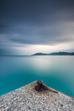 from a pier till the hills, long exposure all around the bay of cannes - 219542243