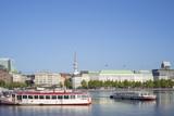 Alterschiffe auf der Binnenalster in Hamburg - 219564899