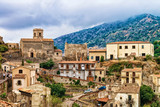 Beautiful landscape with Savoca village on mountain Sicily