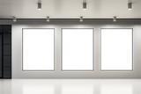 Empty banner in modern interior - 219592856