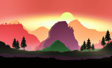 Landscape mountains and forest - 219600261