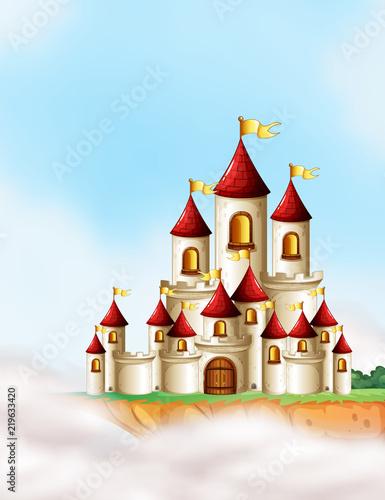 A beautiful fairytale castle - 219633420