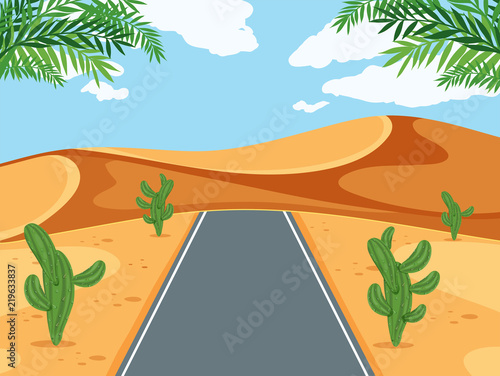 A road in desert