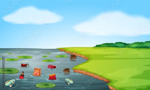 Krajobraz zanieczyszczenia wody