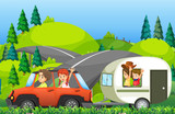 A family on road trip - 219635639