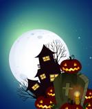 A dark halloween night - 219636081