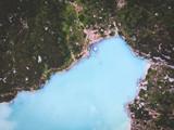 lago di sorapis visto dal drone - 219638038