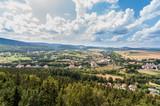 Panorama miasta Szczytna z tarasu widokowego