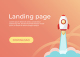 Landing page template. Website template for websites and apps. Landing page vector design UI - 219669839