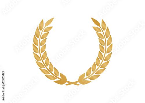 vector gold laurel laurel wreath award and golden ribbon buy