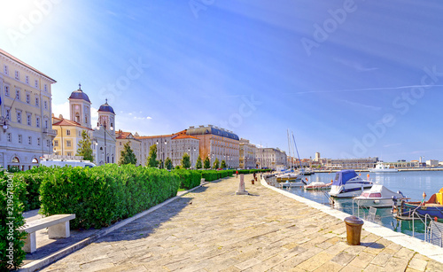 Leinwanddruck Bild Trieste Italy by Adriatic sea
