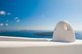 White architecture on Santorini island, Greece. - 219676221