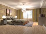 Bedroom interior. 3d illustration - 219677867