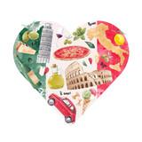Italian heart illustration - 219688487