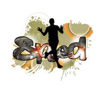 Young Fitness Runner   Illustration Sticker