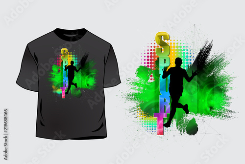 T-shirt template, easy to editable vector