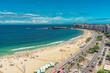 Quadro Aerial view of Copacabana Beach, Rio de Janeiro, Brazil