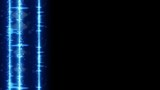 Vertical digital audio wave on edge and free space. Computer generated animation. Seamless loop technology motion background 4k 4096x2304  - 219698482