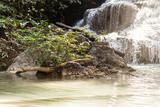 Majestic tropical waterfall