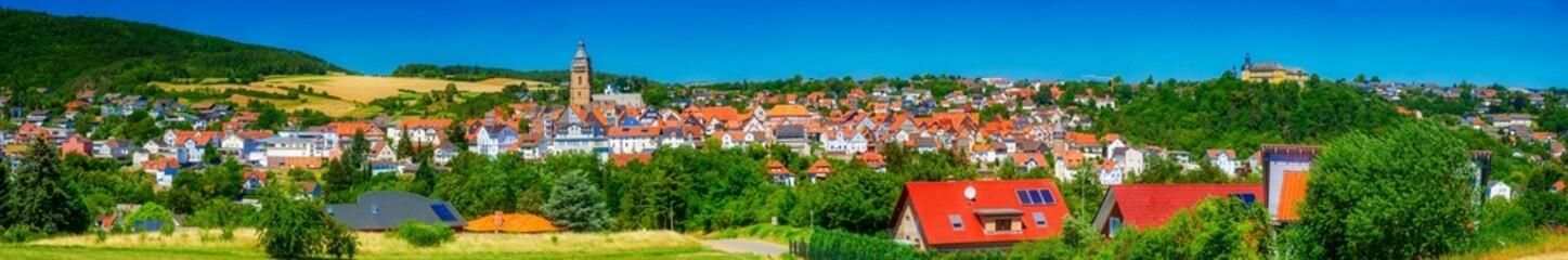 Stadtansicht von Bad Wildungen, Waldeck Frankenberg, Hessen