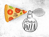 Poster aroma pizza - 219708017