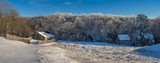 Rustic farm, winter scenic, Cumberland Gap National Park - 219710279