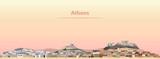 vector illustration of Athens skyline at sunrise - 219715442