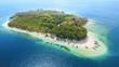Leinwandbild Motiv Beautiful Gili Rengit island with turquoise water