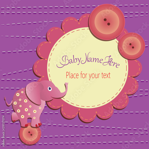 Funny elephant on the button baby shower card template invitations funny elephant on the button baby shower card template invitations greetings with cute m4hsunfo