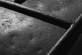 Old black steel surface. Close-up background - 219745662