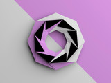 Abstract low poly object with purple - 219745672