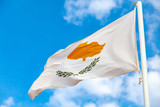 National flag of Cyprus waving on wind - 219745682