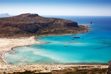 Beautiful landscape of Balos beach in crete
