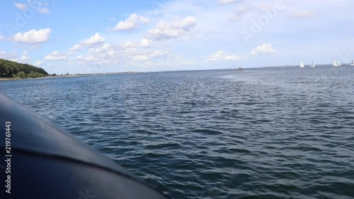 Leaving harbour on RIB - rigid-inflatable boat