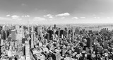 View of Manhattan from the skyscraper's observation deck. New York. - 219776401
