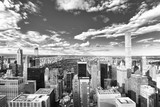 View of Manhattan from the skyscraper's observation deck. New York. - 219776448