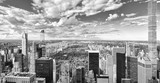 View of Central Park in Manhattan from the skyscraper's observation deck. New York. - 219776488