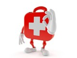 First aid kit character with ok gesture - 219784409