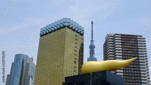 Tokyo Skyline, Tokio Stadtansicht vom Sumida Fluß aus