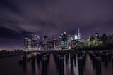 Financial District New York bei Nacht