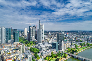 Innenstadt Frankfurt Luftbild © apfelweile