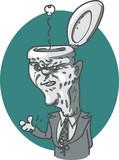 politician toilet head funny cartoon vector illustration - 219802639