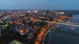 Amazing drone Knoxville Tennessee footage vibrant colors - 219804293