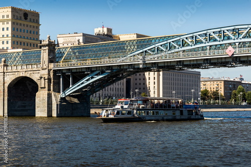 River boat on the Moscow river, Moscow, Russia