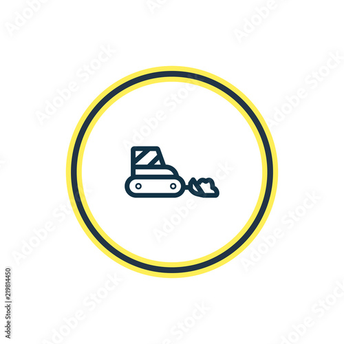 Vector Illustration Of Snow Removal Car Icon Line Beautiful Transit