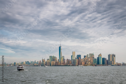 Foto Murales New York City Landscape of the Financial District