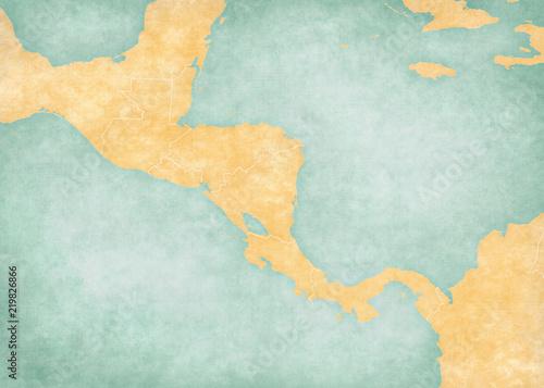 Fototapeta Blank Map of Central America