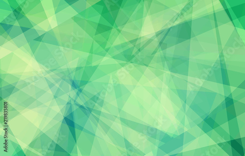 Poster green background with abstract angles and triangle layers in abstract geometric pattern for web and business designs