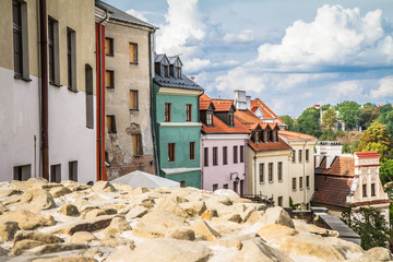 Historical buildings in city of Lublin in Poland, Europe © teine